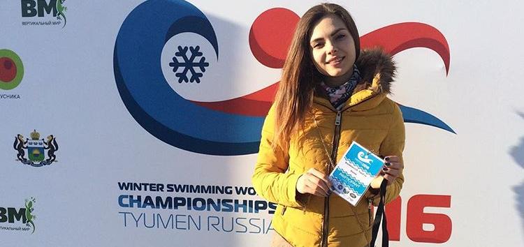 Наталья Чуйко на чемпионате мира по зимнему плаванию в Тюмени